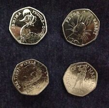 RARE 4X50p Which Include Puddle Duck,PeterRabbit,battle Of Hastings,tiggy Wiggle