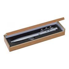 Metallkugelschreiber mit Laserpointer und LED Licht in schöner Geschenkbox -NEU-