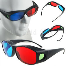 4 Pairs of New Red Blue 3D Glasses Frame For Dimensional Anaglyph Movie DVD Game