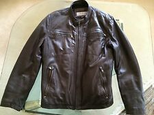 Andrew Marc Brown Leather Motorcycle Jacket