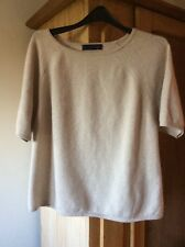 M & S Collection  SIZE  14 Pure Cashmere Top Jumper In 'Light Sand '