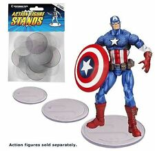 NEW Action Figure Stand Pack of 25 Clear Stands, 2-1/8 Inch Diameter