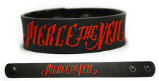 PIERCE THE VEIL Rubber Bracelet Wristband Selfish Machines King for a Day Red