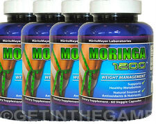 4X Moringa Oliefera Capsules 1200 mg Weight Management 100% NATURAL