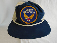 Ghost Squadron Confederate Air Force Baseball Cap Hat Leather Band