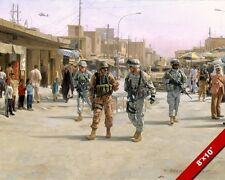 MARTYRS MARKET IRAQ PAINTING US SOLDIERS MILITARY HISTORY ART REAL CANVAS PRINT