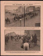 WWI Poilus General Pau Carte Bataille de la Marne Goumiers War 1915 ILLUSTRATION