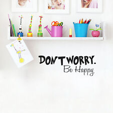 Don't Worry Be Happy Wall Sticker Quote Word Lettering Art Vinyl Removable Decal