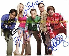 THE BIG BANG THEORY CAST AUTOGRAPHED 8x10 RP PHOTO KALEY CUOCO JIM PARSON ALL 5
