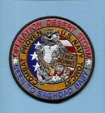 GRUMMAN F-14 TOMCAT DESERT STORM BAGHDAD BABY US Navy VF- Fighter Squadron Patch