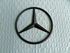New for Mercedes Benz Flat Black Star Trunk Emblem Badge 90mm - Free US Shipping