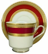 """MIKASA china FRENCH EMBASSY RED L2829 grande ivory CUP & SAUCER Set 3"""" Cup"""