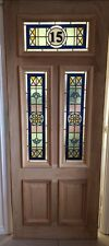 External Stained Glass Door (Oak Double Glazed) (Any Number) (Brand New)