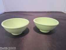 "0151 Princess House Specialty Green Silicone Pinch/Salt Bowls 2 5/8""D x 1 1/4"" H"