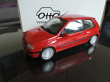 RENAULT CLIO 16S 1991 ROUGE 1/18 OTTO OTTOMOBILE OTTOMODELS