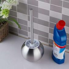 NEW TOILET BRUSH AND HOLDER SET- BRUSHED STAINLESS STEEL