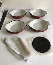 Creme Brûlée Cooking Set Four Dishes In Baskets Instructions New In Box