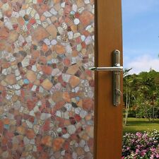 3D Static Cling Removable Window Film Stained Pebble Glass Sticker Bathroom Door