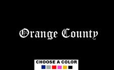 "Orange County California OC 7"" Logo Vinyl Decal Sticker City"