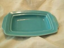 Harlequin Fiesta -  Homer Laughlin Turquoise Butter Dish Bottom Only