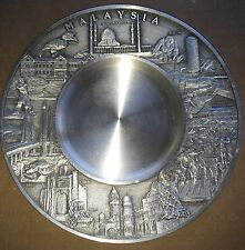 "6"" SELWIN PEWTER Malaysia Souvenir Plate Tray Dish"