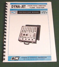 B&K Dyna-Jet 707 Tube Tester Instruction Manual & Tube Charts: Card Stock Covers
