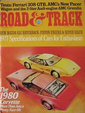 Road & Track 02/1977 featuring Ferrari 308GTB road test, AMC Pacer,Gremlin,Lotus