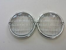 JEEP CJ 5,6,7,8,1976-1986 FRONT PARKING LAMP LENS  FOR RESTROATION PAIR NICE
