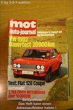 MOT 7/72 VW 1302 Fiat 128 Coupe Karmann Ghia 125 P