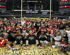OHIO STATE BUCKEYES 2015 NATIONAL CHAMPIONSHIP TEAM 8X10 PHOTO URBAN MEYER