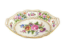 Dresden Carl Thieme Porcelain Reticulated Handled Bowl #6922, c1900 Hand Painted