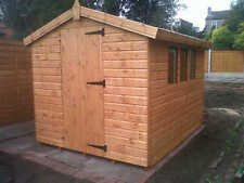 """10X8 APEX WOODEN GARDEN SHED,13MM T/G,3X2CLS FRAMING,1"""" THICK FLOOR,13MM ROOF"""