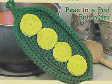 Crochet Pattern ~ PEAS IN A POD POTHOLDER ~ Instructions