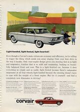 1960 Chevy Corvair 700 4-Door Kite Flying PRINT AD