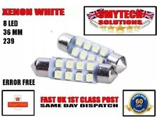 x2 36mm 8-SMD LED Xenon White Number Plate Light Bulbs MK 1 FORD FOCUS 1998-04