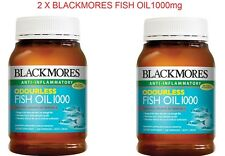 2 X Blackmores Odourless Fish Oil 1000mg 200 Capsules -Omega 3