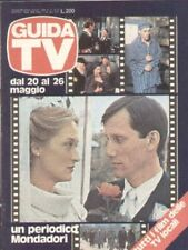 GUIDA TV 1979 N.20 MERYL STREEP JAME WOODS TV PRIVATE TELEFILM RADIO