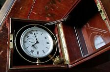 Waltham Naval Chronometer, 15J, Mahogany and Brass Case, 8 day,  WW1, Ca. 1918.