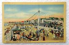 LINEN POSTCARD CHILDRENS PLAYGROUND HAMPTON BEACH NEW HAMPSHIRE #12