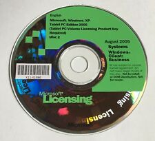 Microsoft Licensing 2005 Systems Windows Client: Business E85-02839 Windows XP
