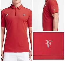 Roger Federer Nike Olympia Rio 2016 RARITY Polo Medium Tennis Nadal Dri-Fit