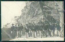 Cagliari città 10º Reggimento Fanteria Militari Foto cartolina QT7722