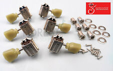 Grover 135 series vintage 3L+3R Gibson style guitar machine heads, tuners Nickel