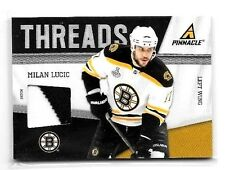 MILAN LUCIC 2011 PANINI PINNACLE THREADS GAME USED 2 COLOR JERSEY#18/25