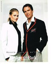 PUBLICITE ADVERTISING  2003  EDEN PARK   COLLECTION HOMME & FEMME