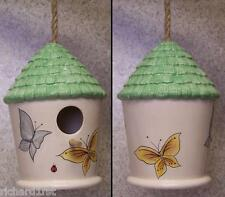 Bird House Ceramic Butterflies NEW