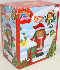 Nickelodeon Dora The Explorer Lighted 4 Ft Airblown Inflatable Christmas Balloon
