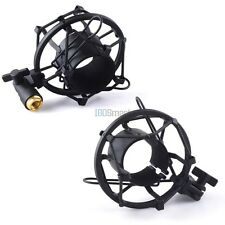 Black Universal Microphone Shock Mount For Large Diameter Condenser Mic