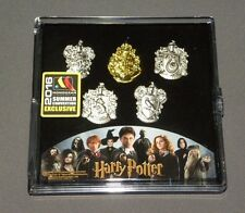 Harry Potter Hogwarts House Crest 5 Piece Lapel Pin Set SDCC Exclusive Monogram