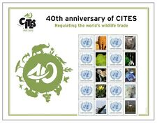 United Nations UN 40th Anniversary of CITES 2013 Personalized Sheet Stamps